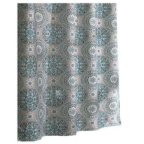 Ex Cell Carthe Fabric Shower Curtain 70 By 72 Inch Turquoise FREE