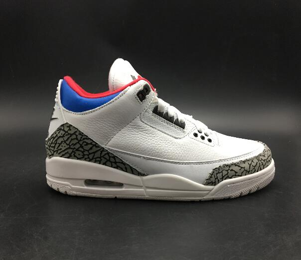Jordan Air Retro 3 III Man Basketball Shoes Katrina Charity Game Pure Black Cement White Seoul Outdoor Sneakers Sport Sneaker