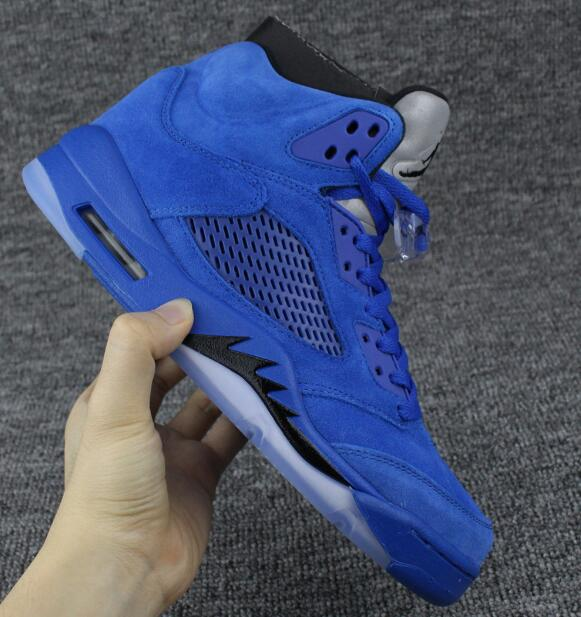 JORDAN Air Retro Basketball Shoes blue raging bullss Breathable Height Increasing Suede Sneakers For Men Shoes Jordan 5