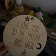 To The Moon and Back Plaque