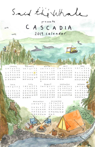 Said the Whale - Cascadia Art Print Calendar Bundle