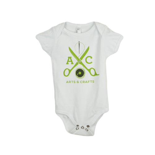 Arts and Crafts - White Scissors Baby Onesie