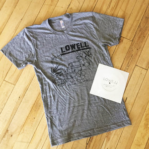 "Lowell - West Coast Forever T-Shirt + 7"" Flexi Disc"