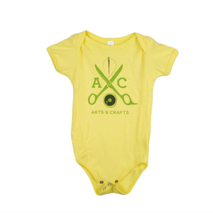 Arts and Crafts - Yellow Scissors Baby Onesie