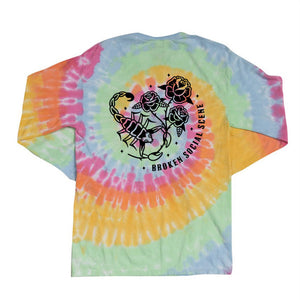 Broken Social Scene - Tie Dye Scorpion Long Sleeve Cotton Shirt