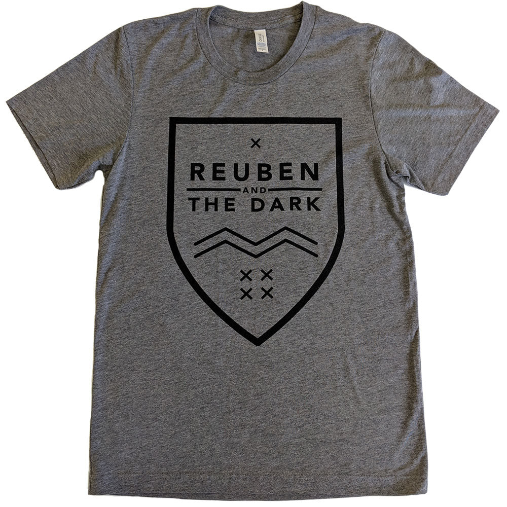 Reuben and the Dark - Grey Shield Logo T