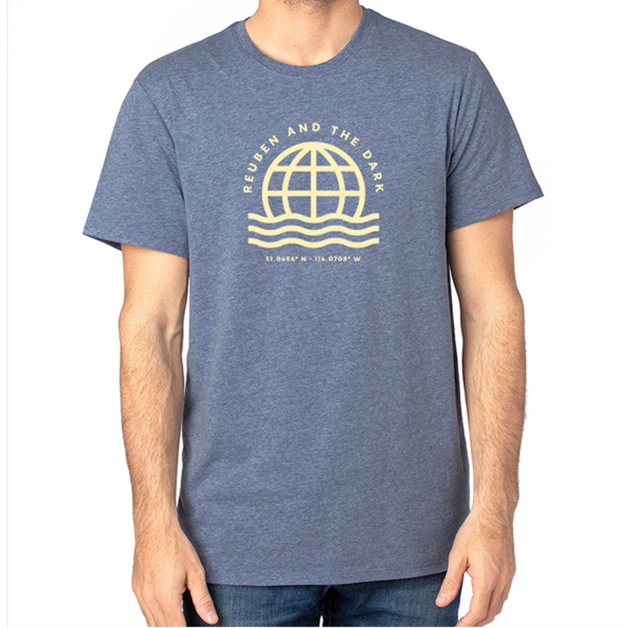 Reuben and the Dark - Heather Navy Globe T