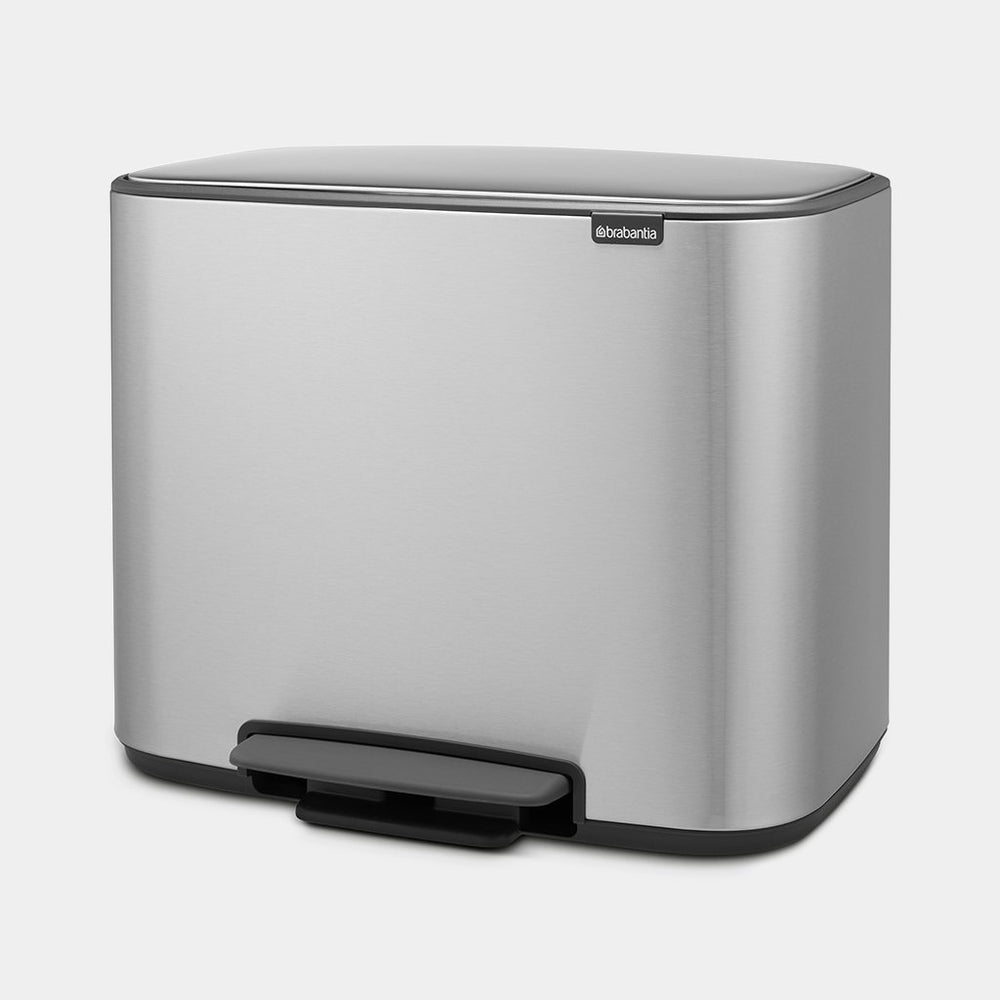Cubo de pedal Bo Matt Steel Fingerprint Proof de Brabantia 3x11L