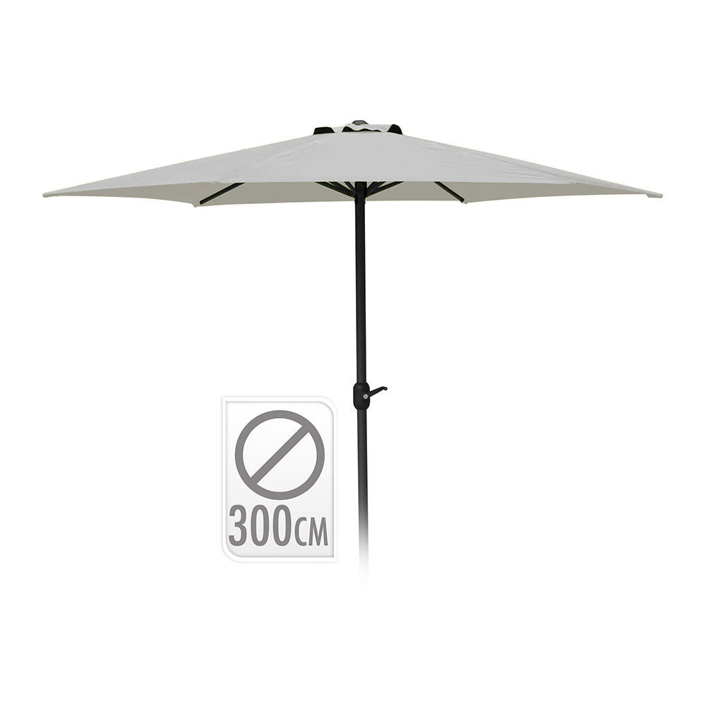 Parasol Color Gris 3Mt