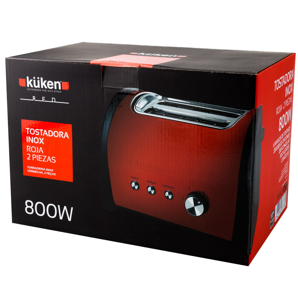 Tostadora Küken Red 2pc. 800W