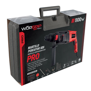 Martillo Worgrip-Pro percutor SDS 800W