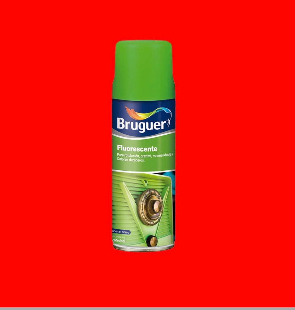 Fluorescente Spray Rojo Bruguer 0,4L