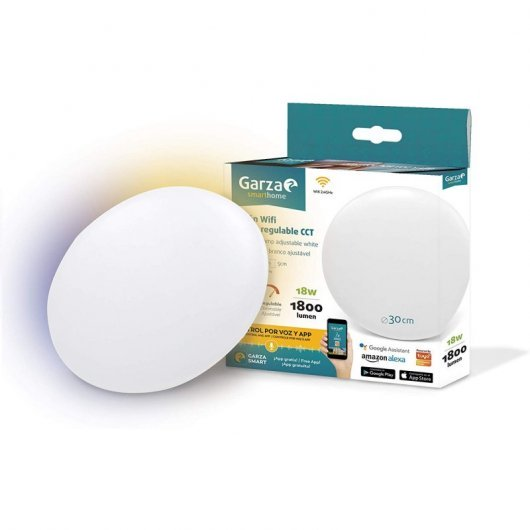 Plafón Led WiFi 18W Regulable Garza SmartHome