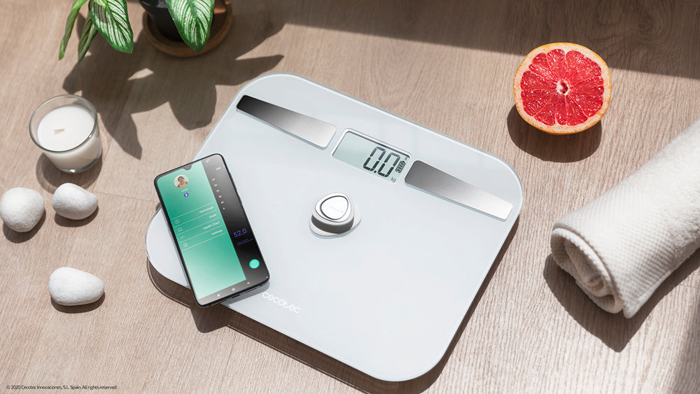 Báscula Surface Precision EcoPower 10200 Smart Healthy White Cecotec