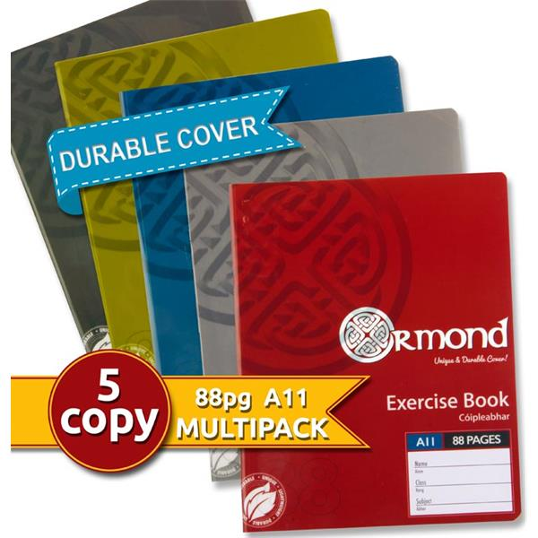 Ormond Pkt.5 A11 120page Durable Cover Copy Book