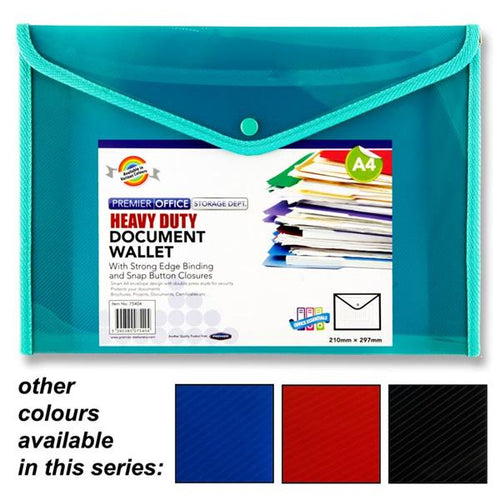 Premier Office A4 Button Document Wallet