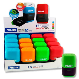 Milan Compact Touch Duo Eraser & Sharpener