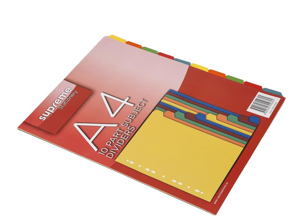 SUBJECT DIVIDERS 10 PART