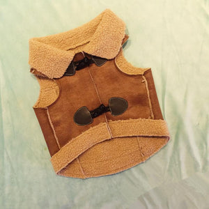 Suede Cashmere Vest for Fashionable Dog