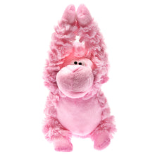 "Patchwork Gorilla Pink 8"" Squeak Dog Toy"