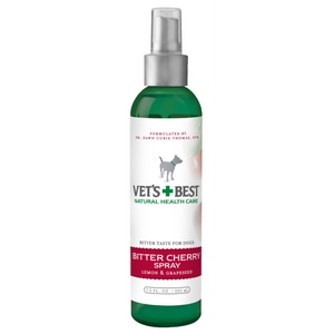 Vet's Best Dog Bitter Cherry Chew Deterrent Spray 7.5oz