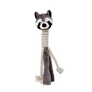 Budz Dog Toy Plush Toy with Cotton Long Neck Racoon 15""