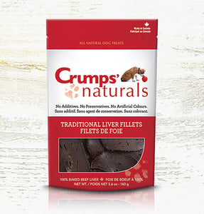 Crumps' Naturals Dog Traditional Liver Fillets 160g