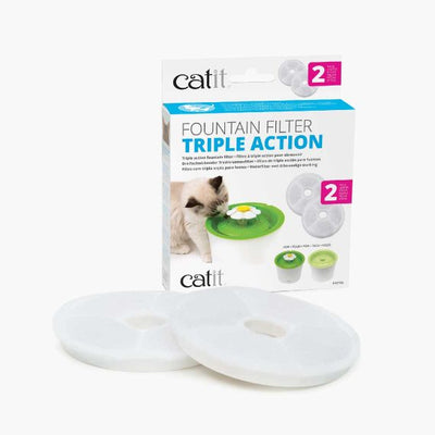 Catit 2.0 Triple Action Fountain Filter, 2 pk