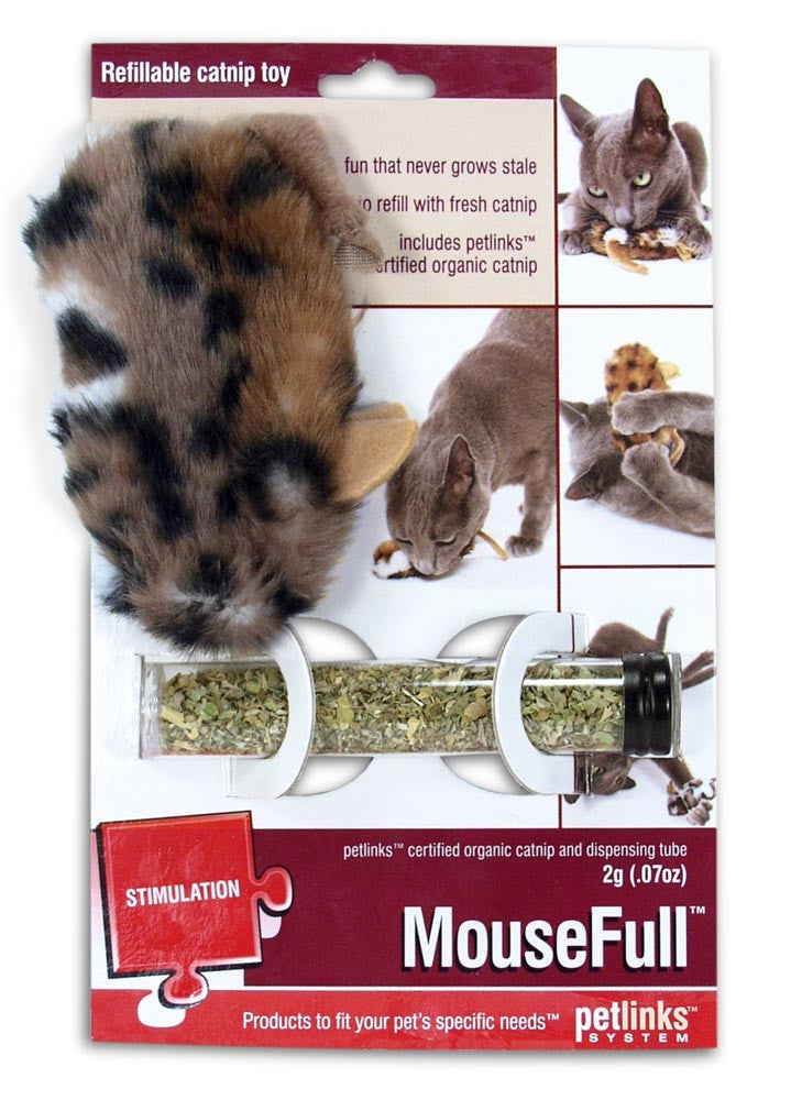 Petlinks Mouse Full Refillable Catnip Cat Toy