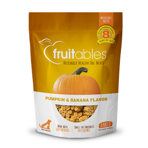 Fruitables Dog Pumpkin & Banana Crunchy Treats 198g