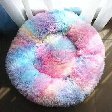 Donut Soft Multi Pastel Fuzzy Comfy Bed - multiple sizes & colors