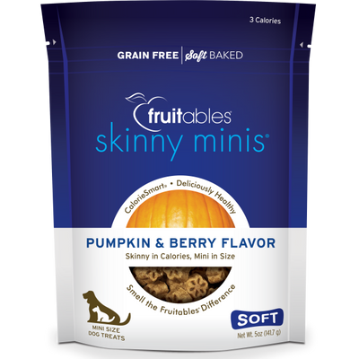 Fruitables Dog Skinny Minis Pumpkin Berry Chewy Treats 141g