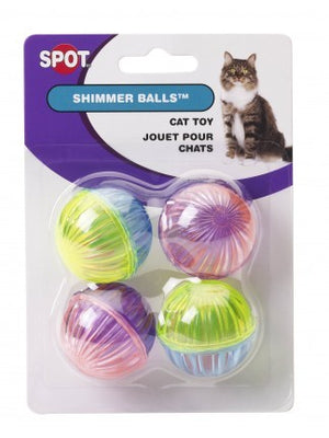 Ethical Pet Cat Shimmer Balls - 4pk