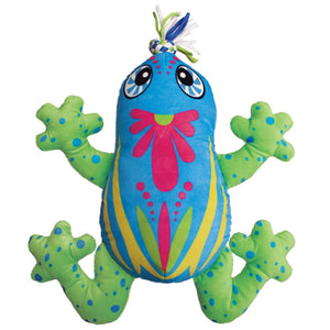 Kong Aloha Frog Stuffed Dog Toy