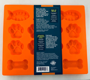 Treat Mold - Fish, Paw & Bone Shape - 2 Sizes Available
