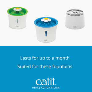 Catit Triple Action Fountain Filter 5 Pk