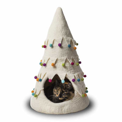 Dharma Dog Karma Cat Christmas Tree - White