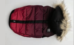 Silver Paw Quilted Puffer Jacket with Hood