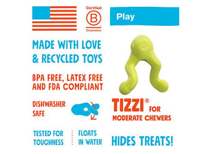 West Paw Tizzi Toy & Treat Dog Toy with Zogoflex
