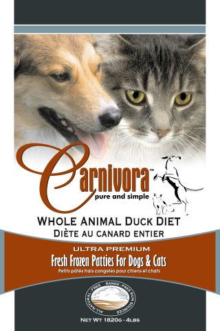 Carnivora Duck Diet Patties 8-8oz Patties per Sleeve