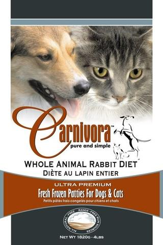 Carnivora Rabbit Diet - 4 lbs of 8oz Patties