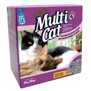 Catit Multi-Cat Cat Litter - Lavender Scent - 15 kg (33 lb) for SCARS Wish List