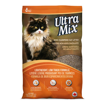 Cat Love Ultra Mix Unscented, Non-Clumping Cat Litter - 10 kg (22 lbs)