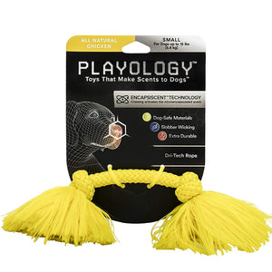 Playology Dri-Tech Yellow Rope Chicken Scented Toy