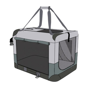 Baxter & Bella Soft Sided Kennel Medium 32x23x23""