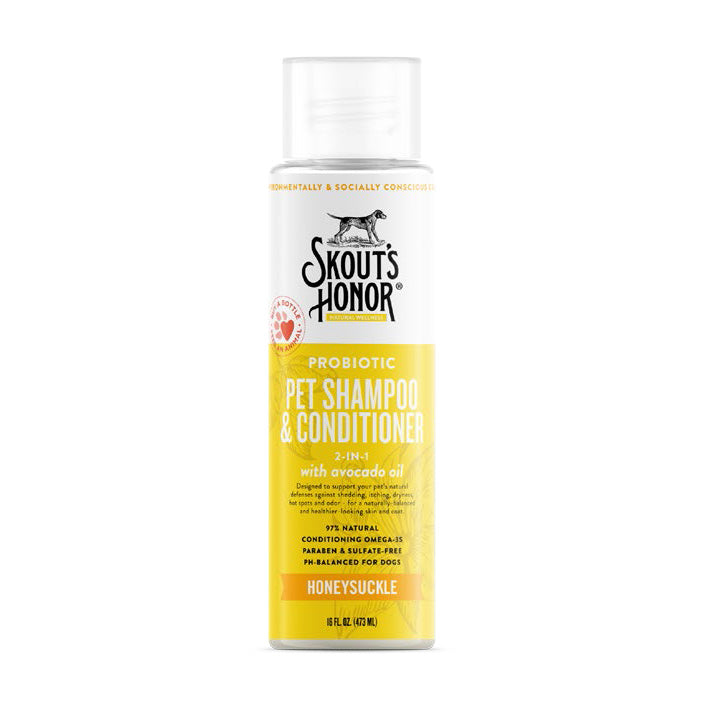Skouts Probiotic Shampoo+Conditioner - Honeysuckle 16oz
