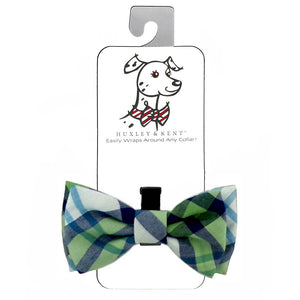 Huxley & Kent Madras Green Bow Tie for Dog