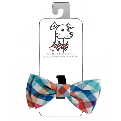 Huxley & Kent - Bow Ties Checked Blue/Green