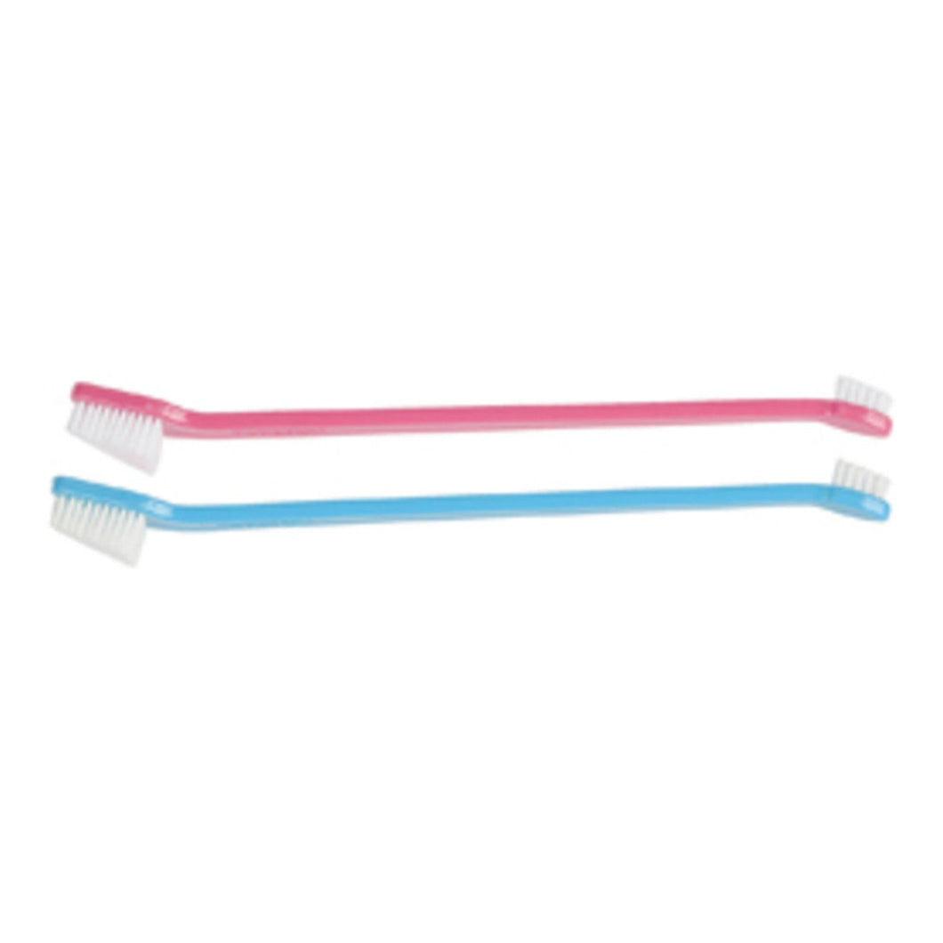 Paw Brothers Dual-End Toothbrushes Pink & Blue