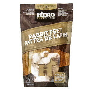 Hero Dog Treats Rabbit Feet Dog Treat